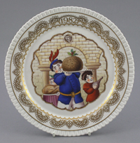 One of the Spode Christmas plate designs by K. Pickin