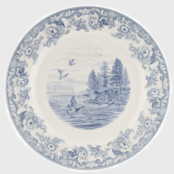 Below another new pattern Delemere Lakeside again with the border design from Woodland but printed in pale blue.  sc 1 st  History of Spode & History of Spode