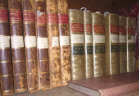 leather bound volumes of Curtis's Botanical Magazine