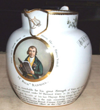 A finely painted and very rare Dutch shape jug c.1812